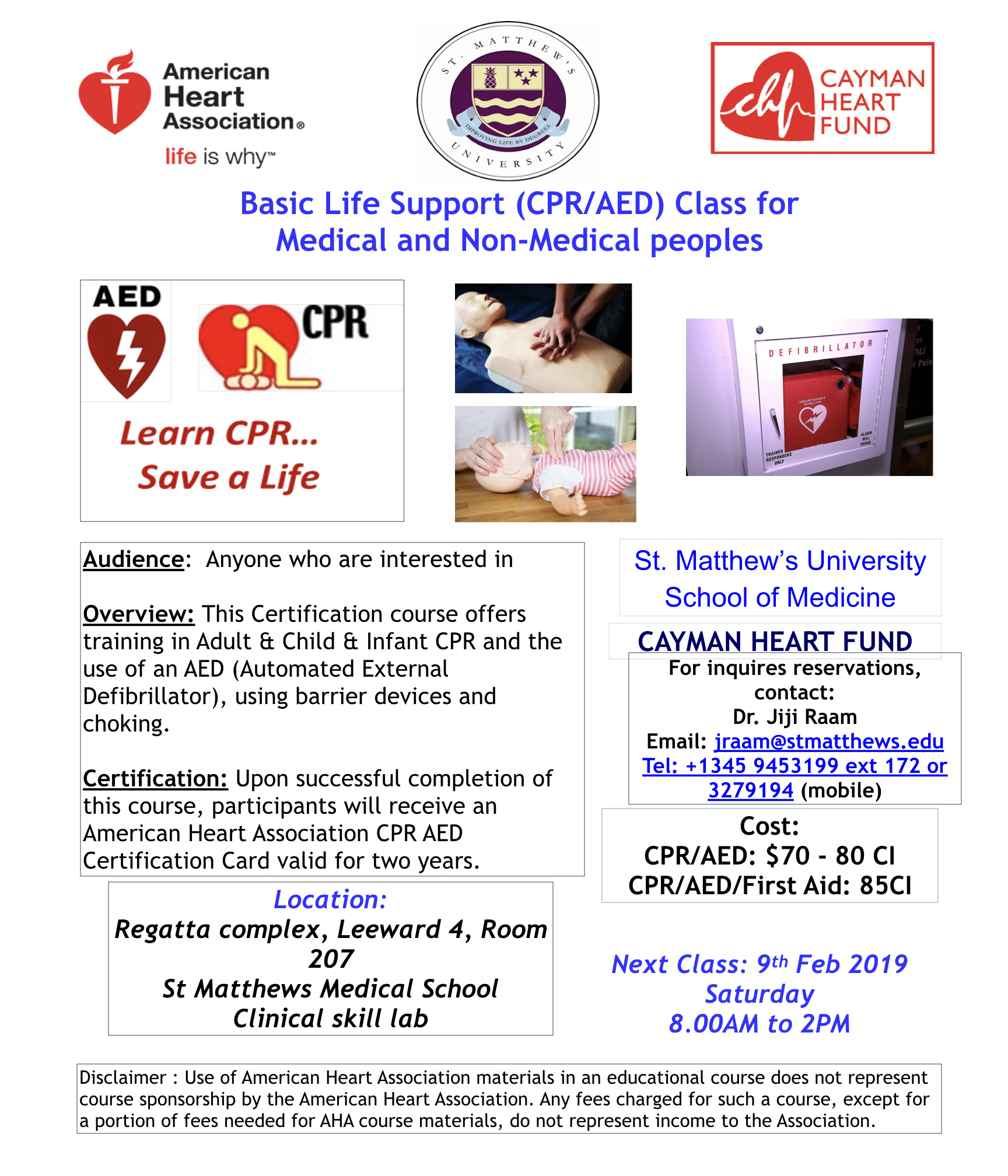 Bls And Cpr Cayman Heart Fund