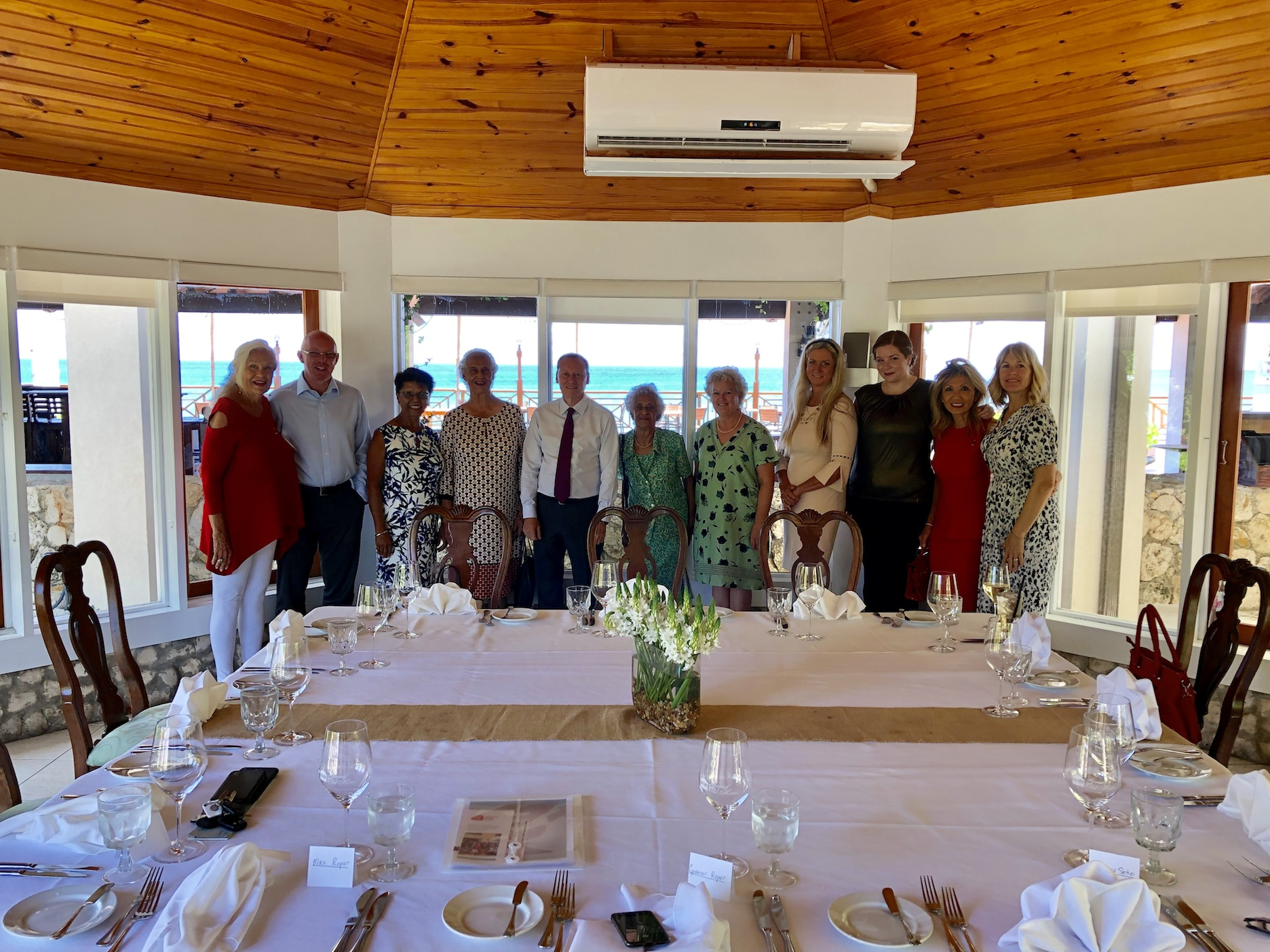 H.E. Governor Roper and Mrs. Roper meet the Cayman Heart Fund